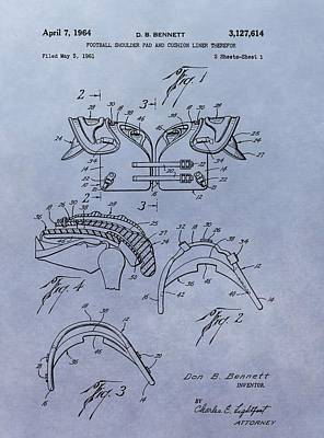 Football Pads Patent Art Print by Dan Sproul