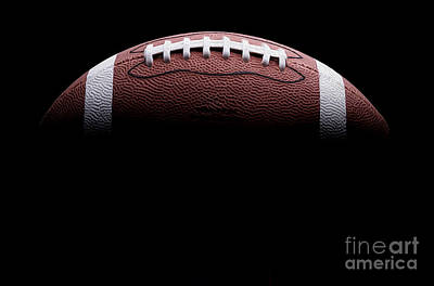 Football Painting Art Print by Jon Neidert