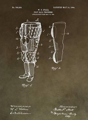 Football Mixed Media - Football Pants Patent by Dan Sproul