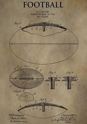 Football Patent Art Print by Dan Sproul