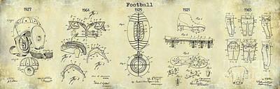 Football Patent History Drawing Art Print