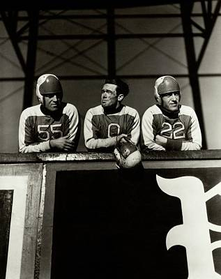 Photograph - Football Players by Lusha Nelson