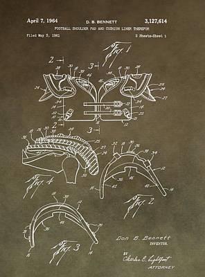 Football Shoulder Pads Patent Art Print by Dan Sproul