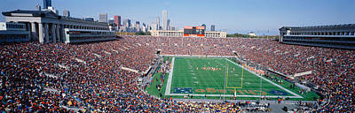 Bleachers Photograph - Football, Soldier Field, Chicago by Panoramic Images