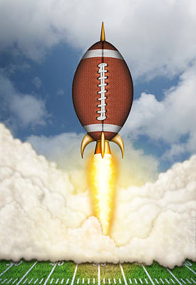 Football Spaceship Art Print