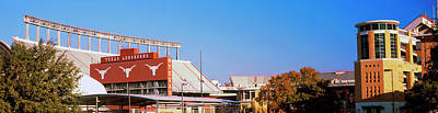 Memorial Stadium Photograph - Football Stadium In A City, Darrell K by Panoramic Images