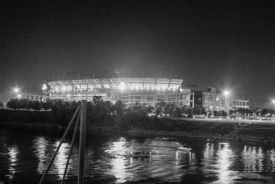 Photograph - Football Stadium Lit Up At Night by Robert Hebert