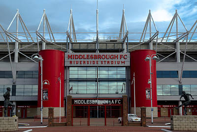 Photograph - Football Stadium - Middlesbrough by Scott Lyons