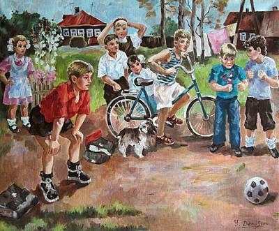 Goalkeeper Painting - Football by Yury Denissov