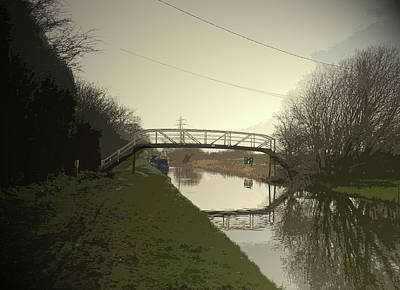Footbridge Over The Trent And Mersey, The Spanking New Art Print