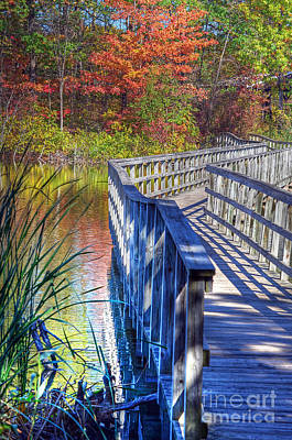 Photograph - Footbridge  by Rodney Campbell