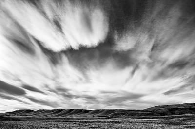 Foothills Cloud Drama Art Print