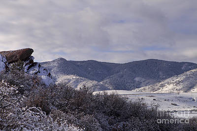 Photograph - Foothills Dusted by Barbara Schultheis