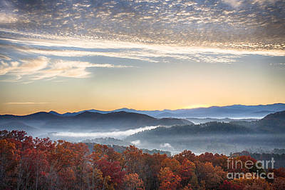 Foothills Parkway Fall Morning Art Print