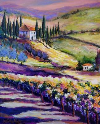 Foothills Vines And Olives Of Tuscany  Sold Art Print by Therese Fowler-Bailey