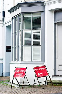 Asphalt Photograph - Footpath Closed by Tom Gowanlock