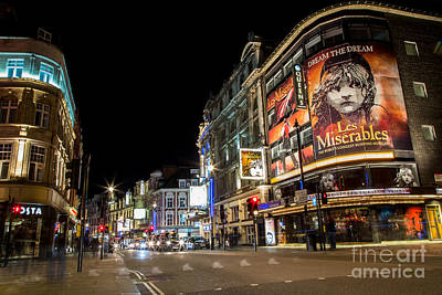 Night Photograph - Footpath To The Theater by John Daly