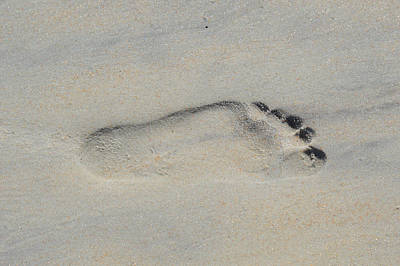 Photograph - Footprint At The Beach by rd Erickson