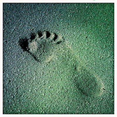 Footprint In The Sand Art Print