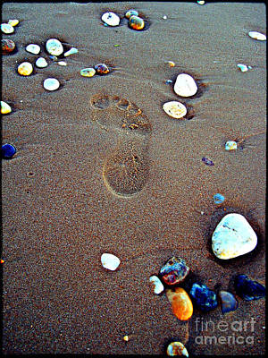 Footprint Art Print by Nina Ficur Feenan