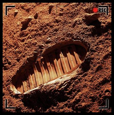 Footprint On Mars Art Print by Detlev Van Ravenswaay