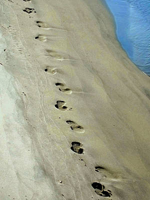 Footprints At Breech Inlet Art Print