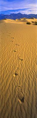 Footprints, Death Valley National Park Art Print