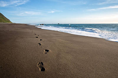 Photograph - Footprints In Sand by Leland D Howard