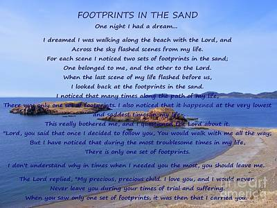 Footprints In The Sand 2 Art Print