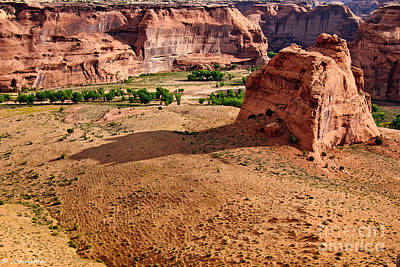 Grandview Digital Art - Footprints In The Sand  Canyon Dechelly by Bob and Nadine Johnston