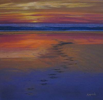 Painting - Footprints In The Sand by Harvey Rogosin