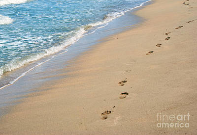 Intentional Camera Movement Photograph - Footprints In The Sand by Juli Scalzi
