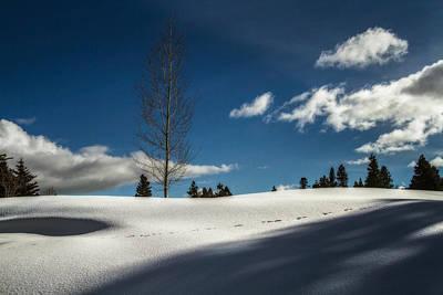 Footprints In The Snow Art Print by Randy Wood