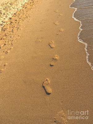 Photograph - Footprints On The Sand by Brenda Kean