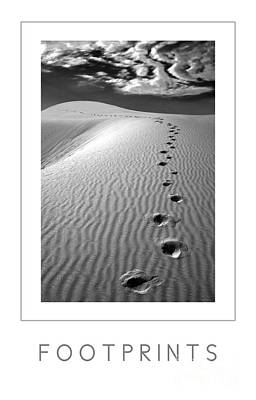 Footprints Poster Art Print by Mike Nellums