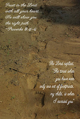 Photograph - Footprints Proverbs by Robyn Stacey