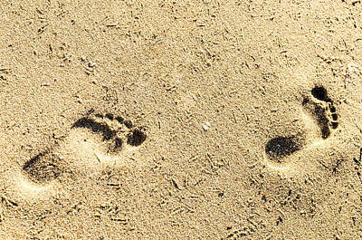 Photograph - Footprints. by Slavica Koceva