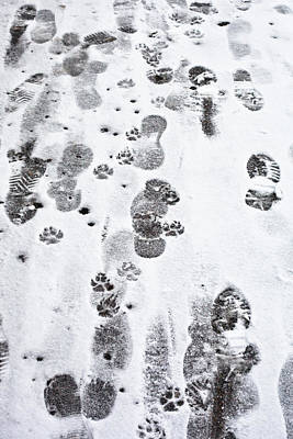 Footprints Art Print by Tom Gowanlock