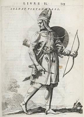 Footsoldier Of The Emir Fechrreddin Art Print by British Library