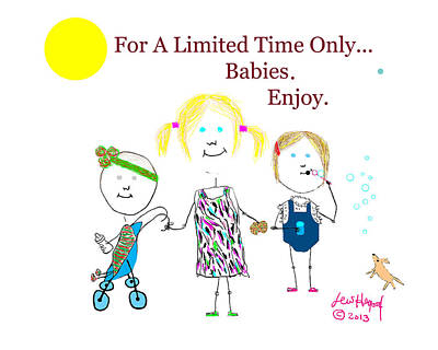Painting - For A Limited Time Only...babies. Enjoy. by Lew Hagood
