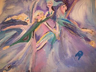 For A Moment We Flew Original by Judith Desrosiers