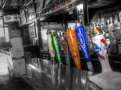For All You Do - Beer Taps - Selective Color Art Print