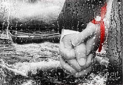 Rain Digital Art - For Better For Worse by Mo T