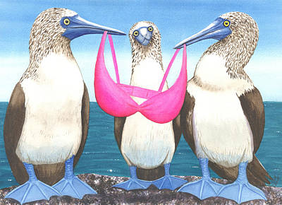 Boobies Painting - For Boobies? by Catherine G McElroy
