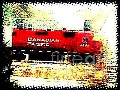 Photograph - Canadian Pacific - Greeting Only by Natalee Parochka