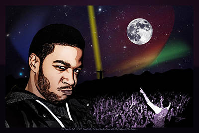 Moon Mixed Media - For Even In Hell - Kid Cudi by Dancin Artworks