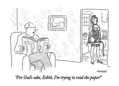For God's Sake Art Print by Robert Mankoff
