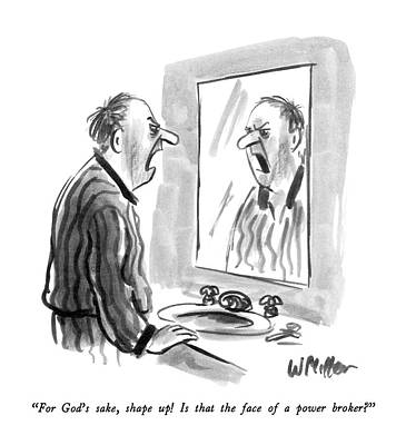 Mirror Drawing - For God's Sake by Warren Miller