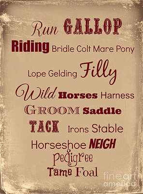 Digital Art - For Horse Lovers by Mindy Bench