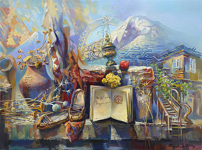 Painting - For My Favorite Armenia  by Meruzhan Khachatryan